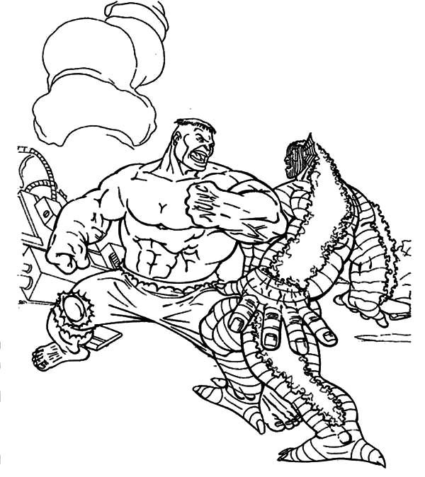 Godzilla, : Godzilla Versus Hulk Coloring Pages