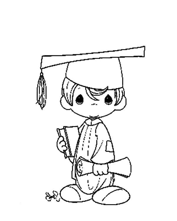 Graduation, : Graduation After 5 Years Study Coloring Pages