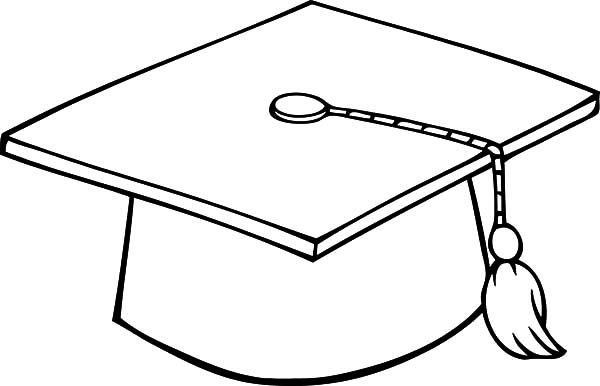 Graduation, : Graduation Cap Coloring Pages