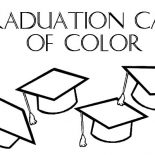 Graduation, Graduation Caps Of Color Coloring Pages: Graduation Caps of Color Coloring Pages