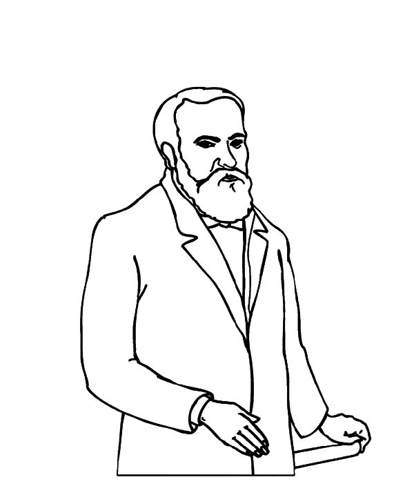 Grandfather, : Grandfather Coloring Pages