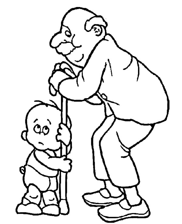 Grandfather, : Grandfather Love Me so Much Coloring Pages