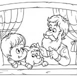 Grandfather, Grandfather Talking With His Grandchild Coloring Pages: Grandfather Talking with His Grandchild Coloring Pages