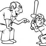 Grandfather, Grandfather Teach Me Playing Baseball Coloring Pages: Grandfather Teach Me Playing Baseball Coloring Pages