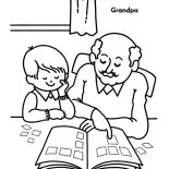 Grandfather, Grandfather Teach Me To Read Coloring Pages: Grandfather Teach Me to Read Coloring Pages