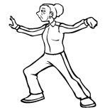 Grandfather, Grandfather Wife Practice Taichi Coloring Pages: Grandfather Wife Practice Taichi Coloring Pages