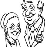 Grandfather, Grandfather And Grandmother Picture Coloring Pages: Grandfather and Grandmother Picture Coloring Pages