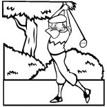 Grandfather, Grandfather Is Golf Athlete Coloring Pages: Grandfather is Golf Athlete Coloring Pages