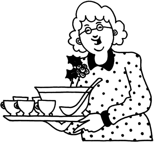 Grandmother, : Grandmother Bring Us Soup Coloring Pages