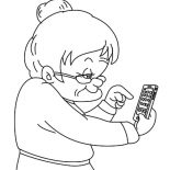 Grandmother, Grandmother Do Math With Calculator Coloring Pages: Grandmother Do Math with Calculator Coloring Pages