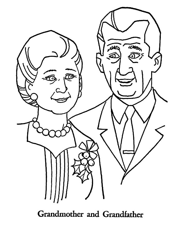 Grandmother, : Grandmother and Grandfather Coloring Pages