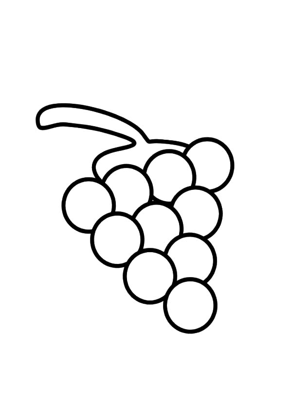 Grapes, : Grapes Coloring Pages