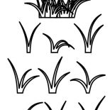 Grass, Growing Grass Coloring Pages: Growing Grass Coloring Pages