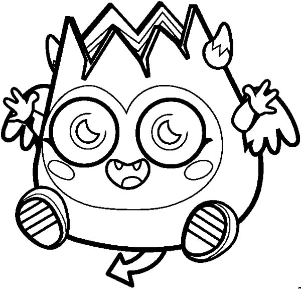 Moshi, : Happy Laughing Moshi Monsters Diavlo Coloring Pages