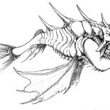 Monster Fish, Hideous Monster Fish Coloring Pages: Hideous Monster Fish Coloring Pages