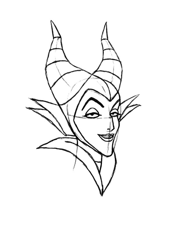 Maleficent, : How to Draw Maleficent Coloring Pages
