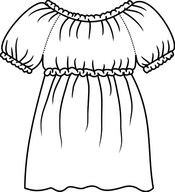 Mexican Dress, How To Draw Mexican Dress Coloring Pages: How to Draw Mexican Dress Coloring Pages