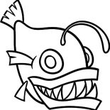 Monster Fish, How To Draw Monster Fish Coloring Pages: How to Draw Monster Fish Coloring Pages