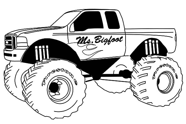 Monster Jam, How To Draw Monster Jam Truck Coloring Pages: How to Draw Monster Jam Truck Coloring Pages