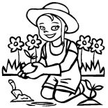 Garden, I Love My Garden Coloring Pages: I Love My Garden Coloring Pages