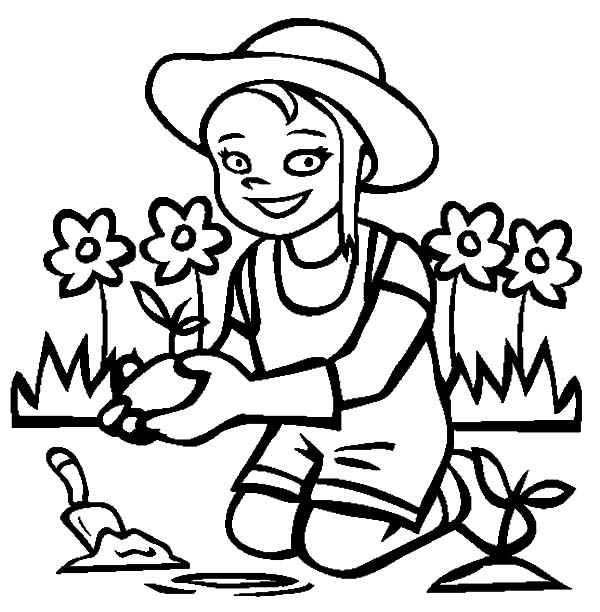 Garden, : I Love My Garden Coloring Pages