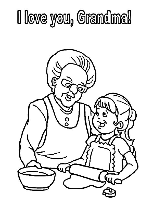 Grandmother, : I Love You Grandmother Coloring Pages