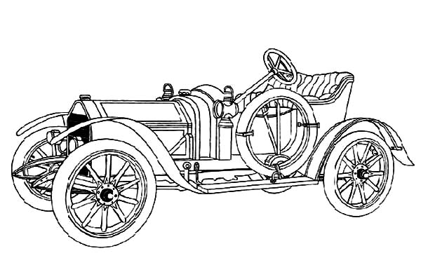Model t Car, : Introducing Model T Car Coloring Pages