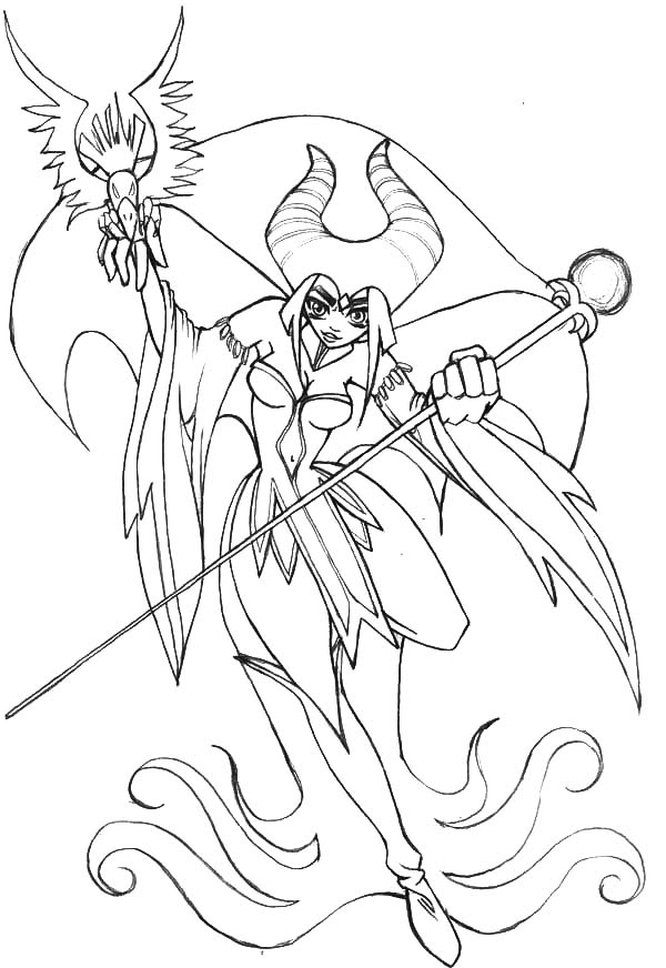 Maleficent, : Japanese Manga Maleficent Coloring Pages