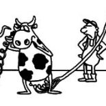Milking Cow, Jokes Of Milking Cow Coloring Pages: Jokes of Milking Cow Coloring Pages