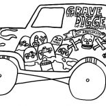 Monster Jam, Kids Drawing Monster Jam Truck Coloring Pages: Kids Drawing Monster Jam Truck Coloring Pages