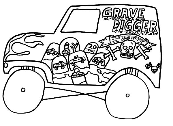 Monster Jam, : Kids Drawing Monster Jam Truck Coloring Pages