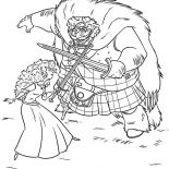 Merida, King Fergus Train Merida Using Sword Coloring Pages: King Fergus Train Merida Using Sword Coloring Pages
