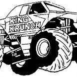 Monster Jam, King Krunch Monster Jam Coloring Pages: King Krunch Monster Jam Coloring Pages