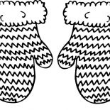 Mittens, Knitted Mittens Coloring Pages: Knitted Mittens Coloring Pages