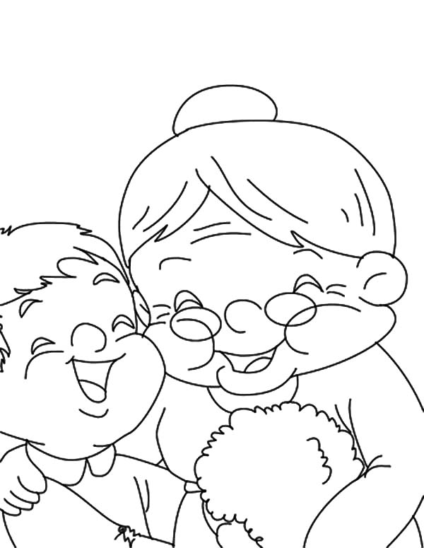 Grandmother, : Laugh with My Grandmother Coloring Pages