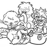 Moshi, Laughing With Moshi Monster Coloring Pages: Laughing with Moshi Monster Coloring Pages