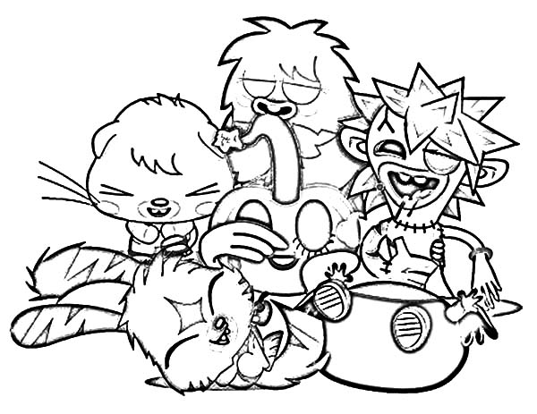 Moshi, : Laughing with Moshi Monster Coloring Pages