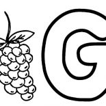 Grapes, Learning Alphabet G For Grapes Coloring Pages: Learning Alphabet G for Grapes Coloring Pages