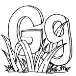Grass, Letter G For Grass Coloring Pages: Letter G for Grass Coloring Pages