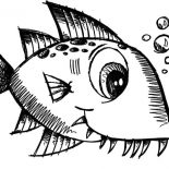 Monster Fish, Little Monster Fish Coloring Pages: Little Monster Fish Coloring Pages
