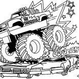 Monster Jam, Live Motorsport Event Monster Jam Coloring Pages: Live Motorsport Event Monster Jam Coloring Pages