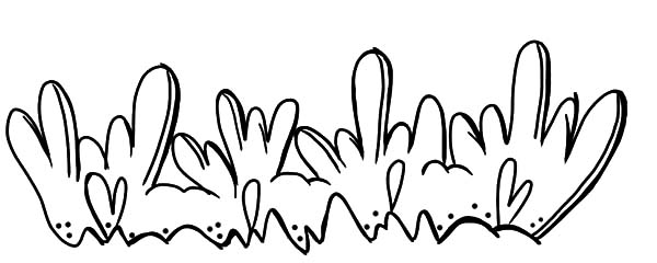 Grass, Love Shaped Grass Coloring Pages: Love Shaped Grass Coloring Pages