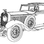 Model t Car, Luxurious Model T Car Coloring Pages: Luxurious Model T Car Coloring Pages