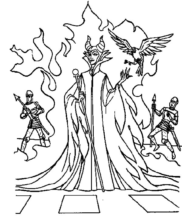 Maleficent, : Maleficent Appears at Kings Palace Coloring Pages