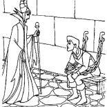 Maleficent, Maleficent Captured Prince Phillip Coloring Pages: Maleficent Captured Prince Phillip Coloring Pages