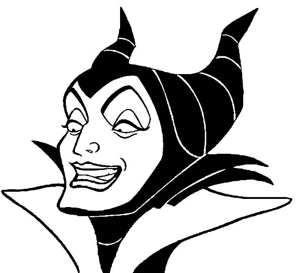 Maleficent, : Maleficent Coloring Pages for Kids