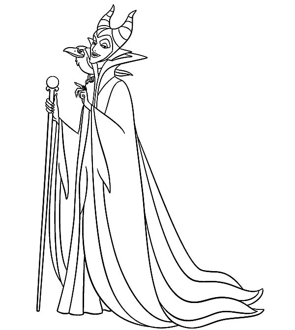 Maleficent, : Maleficent Setting for Scheming Coloring Pages