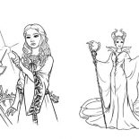 Maleficent, Maleficent And Her Evil Plan To Princess Aurora Coloring Pages: Maleficent and Her Evil Plan to Princess Aurora Coloring Pages