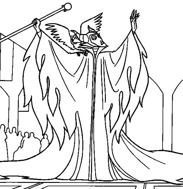 Maleficent, : Maleficent is Angry to King Stefan Coloring Pages