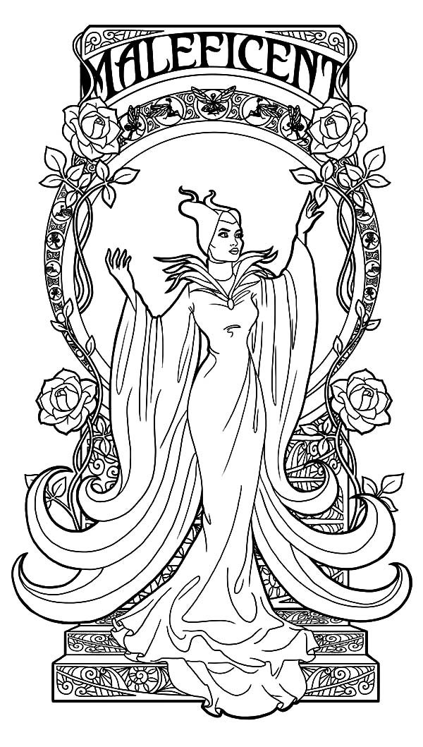 Maleficent, : Maleficent the Movie Coloring Pages